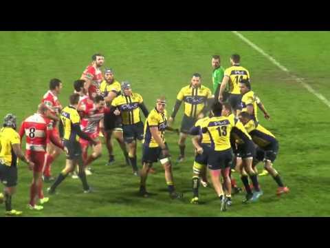 Rugby francés: violentísima batalla campal por un tackle