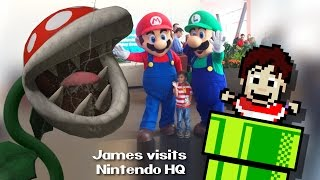 James visits Nintendo Headquarters