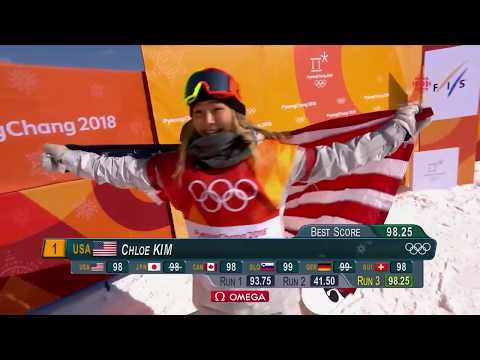 Chloe Kim's full gold medal run 98.25