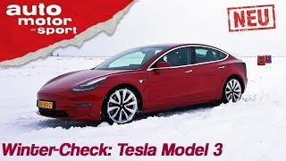 Tesla Model 3 (2019): Winter-Check mit Alexander Bloch - Review/Fahrbericht | auto motor & sport