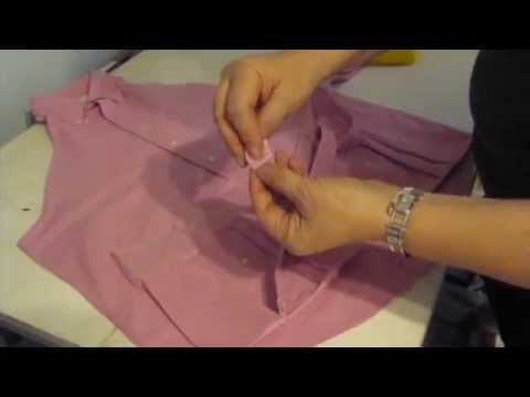 how to make a man's shirt into an apron, diy apron from old shirt, How to Make Men's Dress Shirt Apron