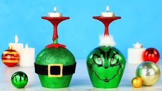 Новогодний декор в стиле Гринча своими руками