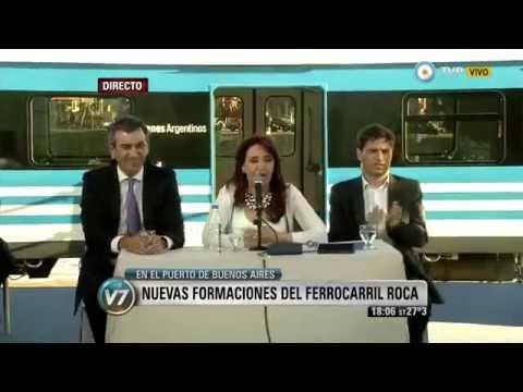 Visión 7 La Presidenta presentó nuevas formaciones del ferrocarril Roca