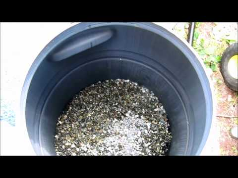 DIY Rain barrel made into pressurized homemade pond filter for water and algae ....