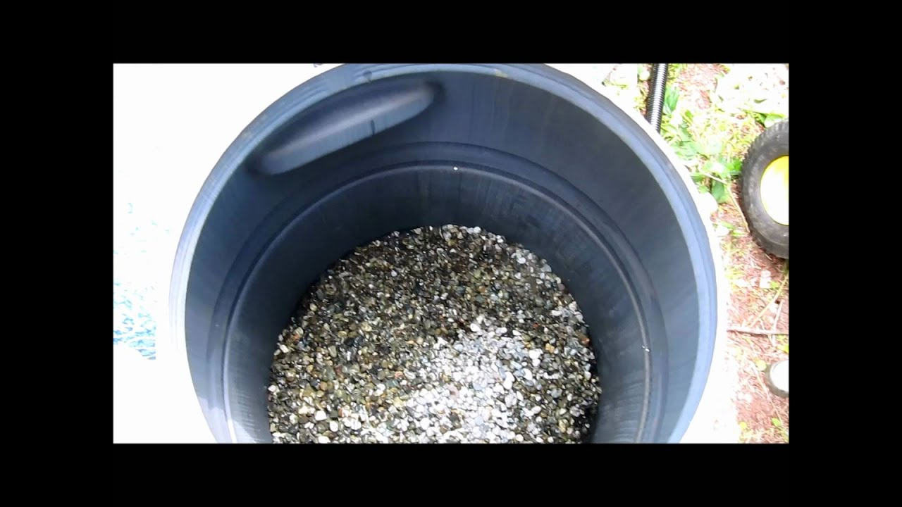 Diy rain barrel made into pressurized homemade pond filter for Koi pond sand filter system