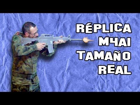 Como Hacer un Rifle M4A1 Casero   Armas Caseras Fáciles