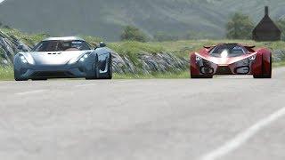 Koenigsegg Regera vs Ferrari F80 Concept at Highlands