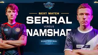 Serral vs Namshar ZvZ - Ro8 - WCS Challenger 2018 Season 3 - EU