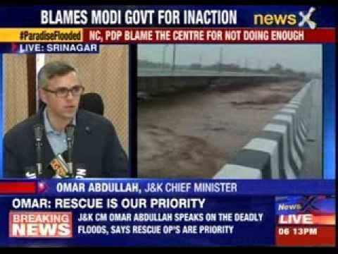 Jammu and Kashmir Chief Minister Omar Abdullah addresses the media