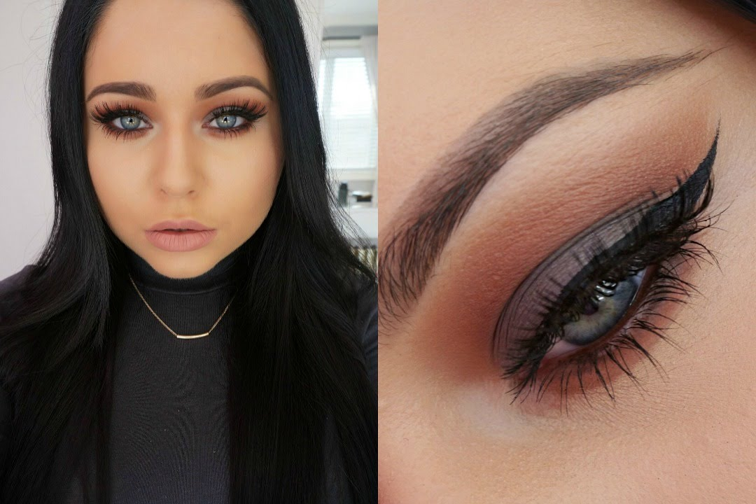 Gray eye makeup