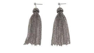 Joyce Willams Crystal Tassel Drop Earrings