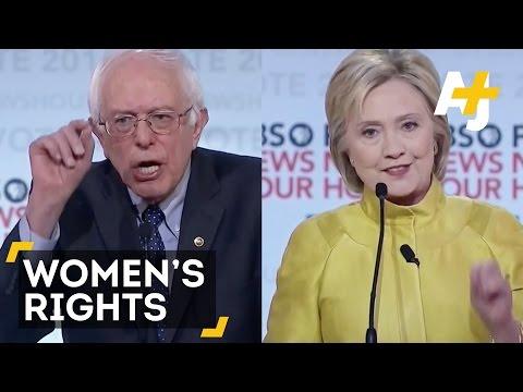 Bernie Sanders & Hillary Clinton Debate Women's Rights: PBS Democratic Debate
