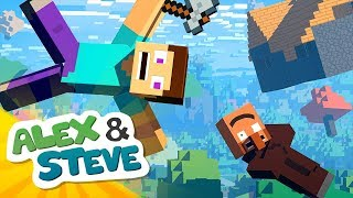 😵 IF MINECRAFT HAD NO GRAVITY | The Minecraft Life of Alex & Steve | Minecraft Animation