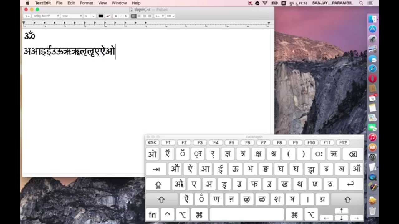 Devanagari Keyboard Layout Devanagari Keyboard on Mac