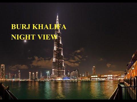 Worlds tallest building Burj Khalifa night view
