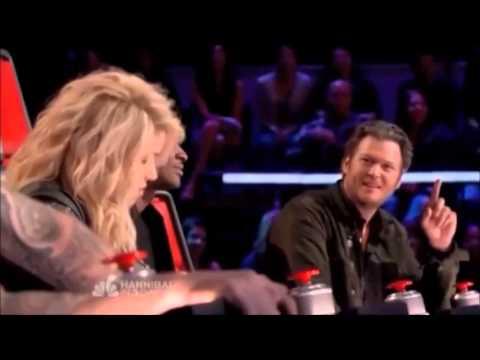 Adam Levine says Shut Up to Shakira