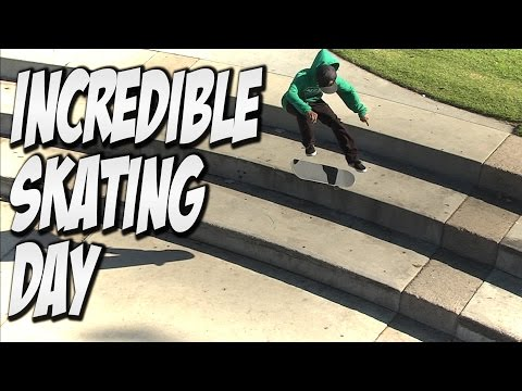 INCREDIBLE SKATE DAY WITH THE HOMIES !!! - A DAY WITH NKA -