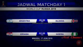 Jadwal Lengkap Piala Dunia Rusia 2018 live Trans Media (Trans tv, trans 7)