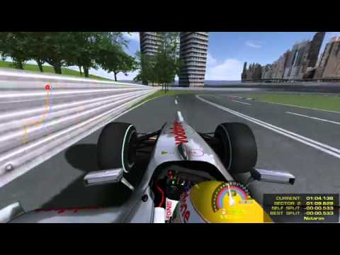 New Jersey Formula 1 - lap analysis, GP of America (rFactor). Rough sketch