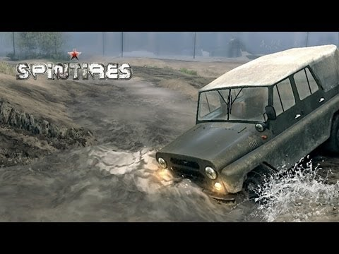 Spin Tires 2013 Tech Demo - Jun 6 Update - Map Extended - UAZ Jeep Exploring the Map