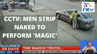 CCTV footage reveals how witchcraft stunt was stage-managed