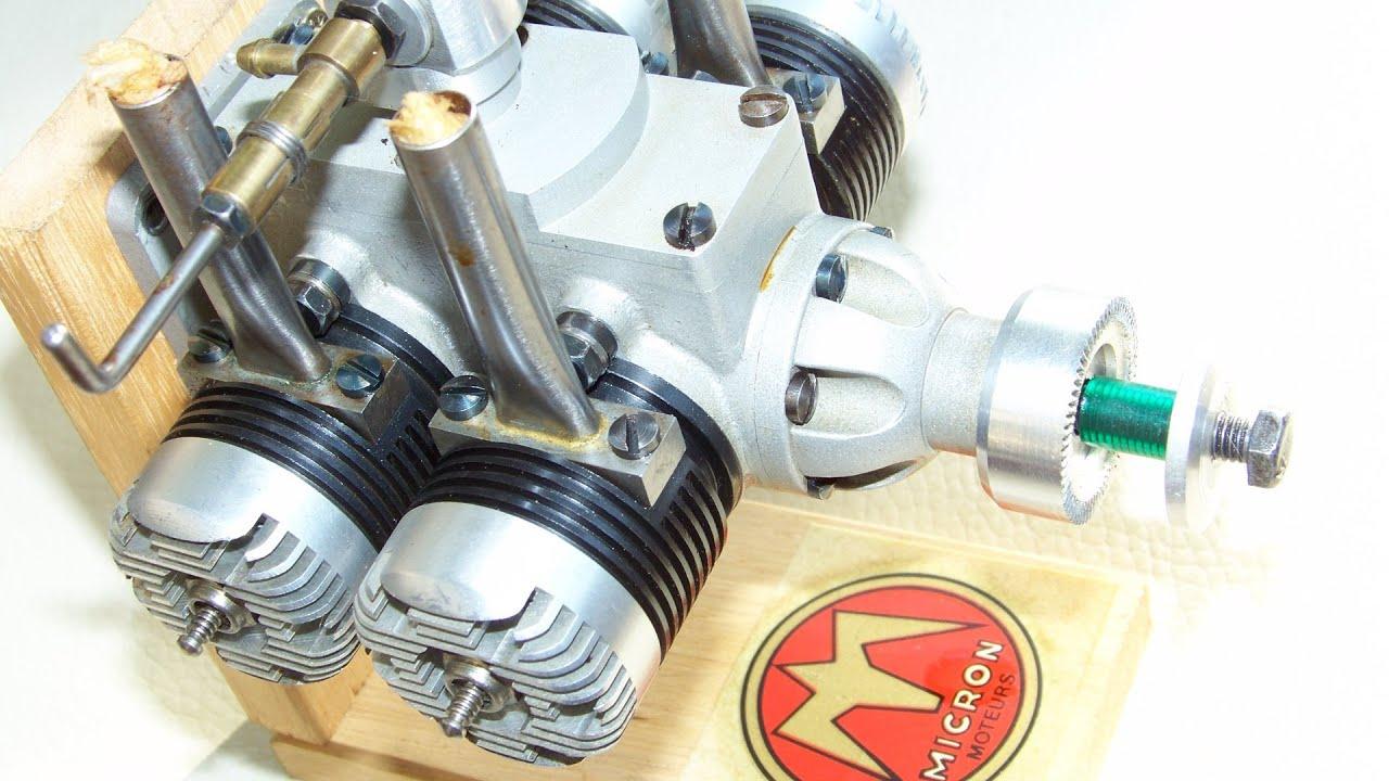 Nitro 4 Cylinder Double Twin Model Engine Rc Youtube