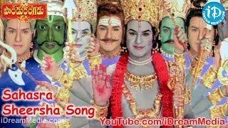 Sahasra - Pandurangadu Movie Songs - Sahasra Sheersha Song - Balakrishna - Sneha - Tabu