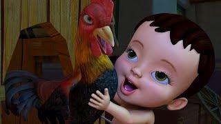 कुकुडू कू मुर्गा | Hindi Rhymes for Children | Infobells