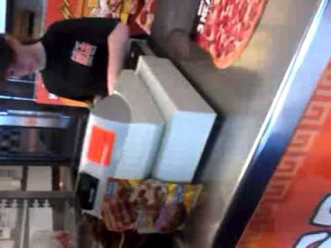Chris showing  his squash penis at little caesars