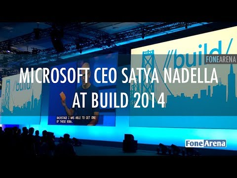 Microsoft CEO Satya Nadella at Build 2014