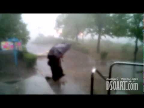 Ураган в Комсомольске 14 июня 2012 года. Часть 1.