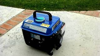 Testing My New Chicago 800-Watt Portable Electric Generator
