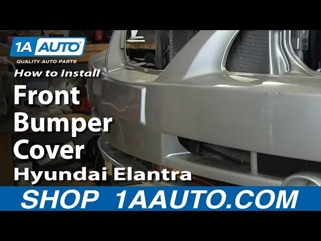 How To Install Replace Remove Front Bumper Cover Hyundai ...