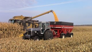 Iowa Corn Harvest with Big Tractor Power