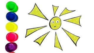 Sun How to Draw funny sun Drawing & Coloring Learn colors for kids | Holly Toy Art 💖
