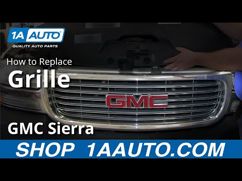 How To Install Replace Front Radiator Grille 1999-02 GMC Sierra