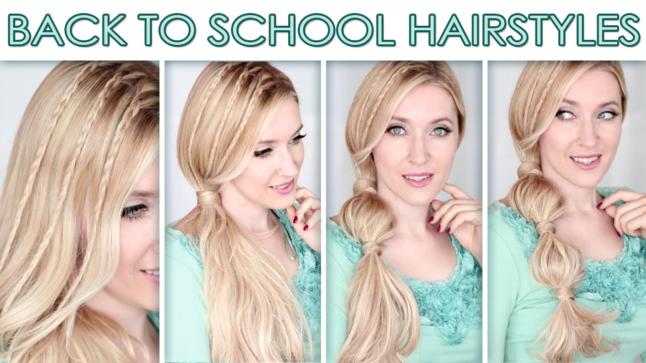 Hairstyles for long hair for school ★ Cute quick bubble ponytail ...