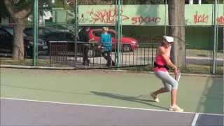 Functional Tennis - Young athlete performs proper tennis movement skill