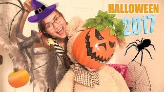 Trang Trí Halloween 2017 Cùng Chị Bí Đỏ Và Bé Gấu Bông Đoremon | Xem Đồ Chơi Halloween Tại Mỹ |