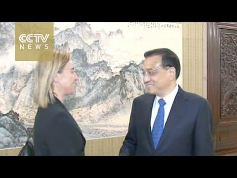 Li Keqiang meets visiting EU foreign policy chief