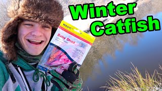 Winter Catfishing in the SNOW!