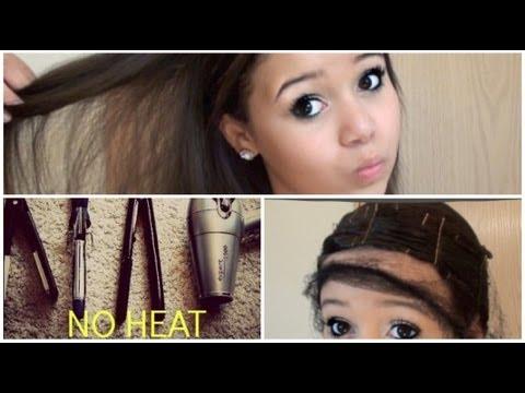 Straight Hair With No Heat Krazyrayray Youtube