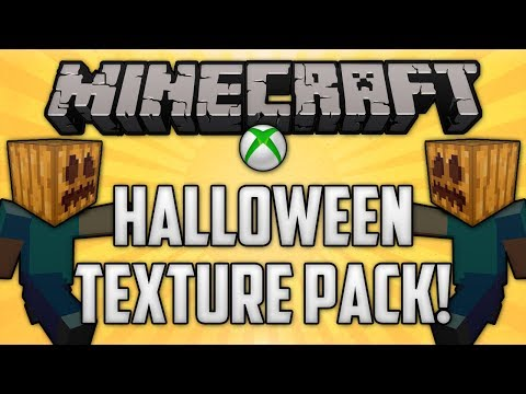 Minecraft: Halloween Texture Pack Review! (FREE on Xbox 360 Edition + Slenderman!)