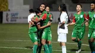 Bangladesh vs Nepal Women Football Final Match 2018 in Bhutan