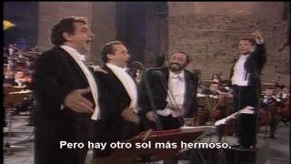 Los Tres Tenores O Sole Mio Y Nessun Dorma Subtitulado Al Español