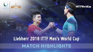 Fan Zhendong vs Timo Boll I 2018 ITTF Men's World Cup Highlights (Final)