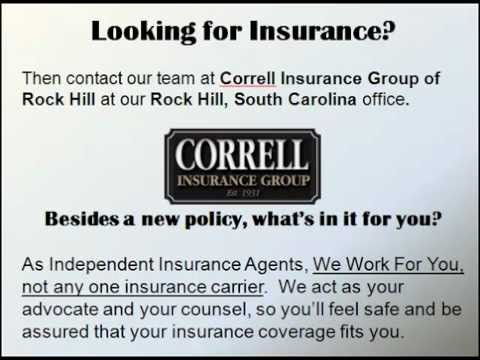Get Auto Insurance, HomeOwner's Insurance, Business Insurance at Correll Insurance in Rock Hill, SC.
