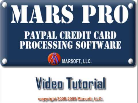 Mars Pro - PayPal Credit Card Processing Software
