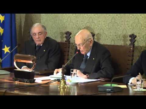Accademia dei Lincei, conferenza del presidente della Repubblica Giorgio Napolitano (10/12/2014)