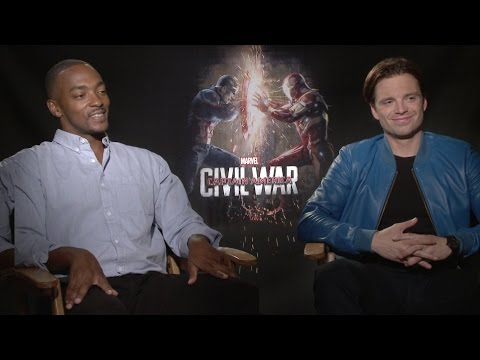 Sebastian Stan and Anthony Mackie on 'Captain America: Civil War' and Bucky's Hair